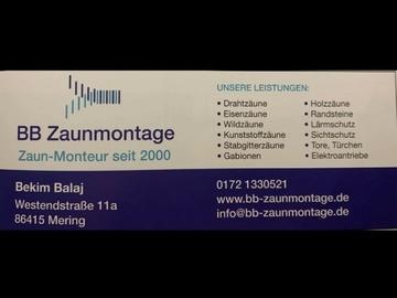 Profesionist: BB Zaunmontage