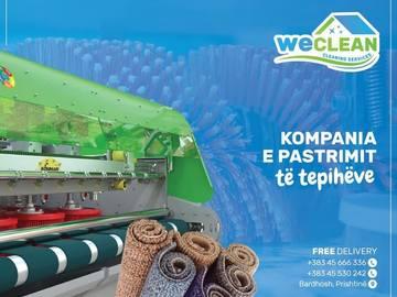 Kompani dhe Prodhusë: Pastrimi i Tepihëve WE CLEAN